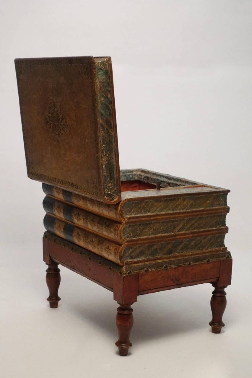 chair side book stand target lawn chairs leather box table or england 19th century at 1stdibs