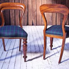 Tartan Dining Chair Covers For Sale Revolving Fiber Base William Iv Set Of 8 39balloon 39 Chairs In Cuban Mahogany And