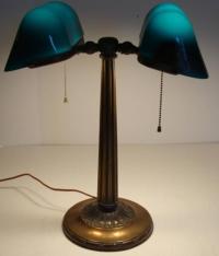 Antique Emeralite Banker's Lamp at 1stdibs