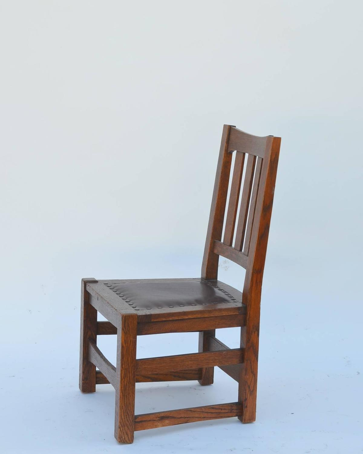 Mission Style Chairs Original Mission Style Arts And Crafts Oak Chair By