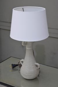 Chic Gourd Shaped Table Lamp with Custom White Parchment ...