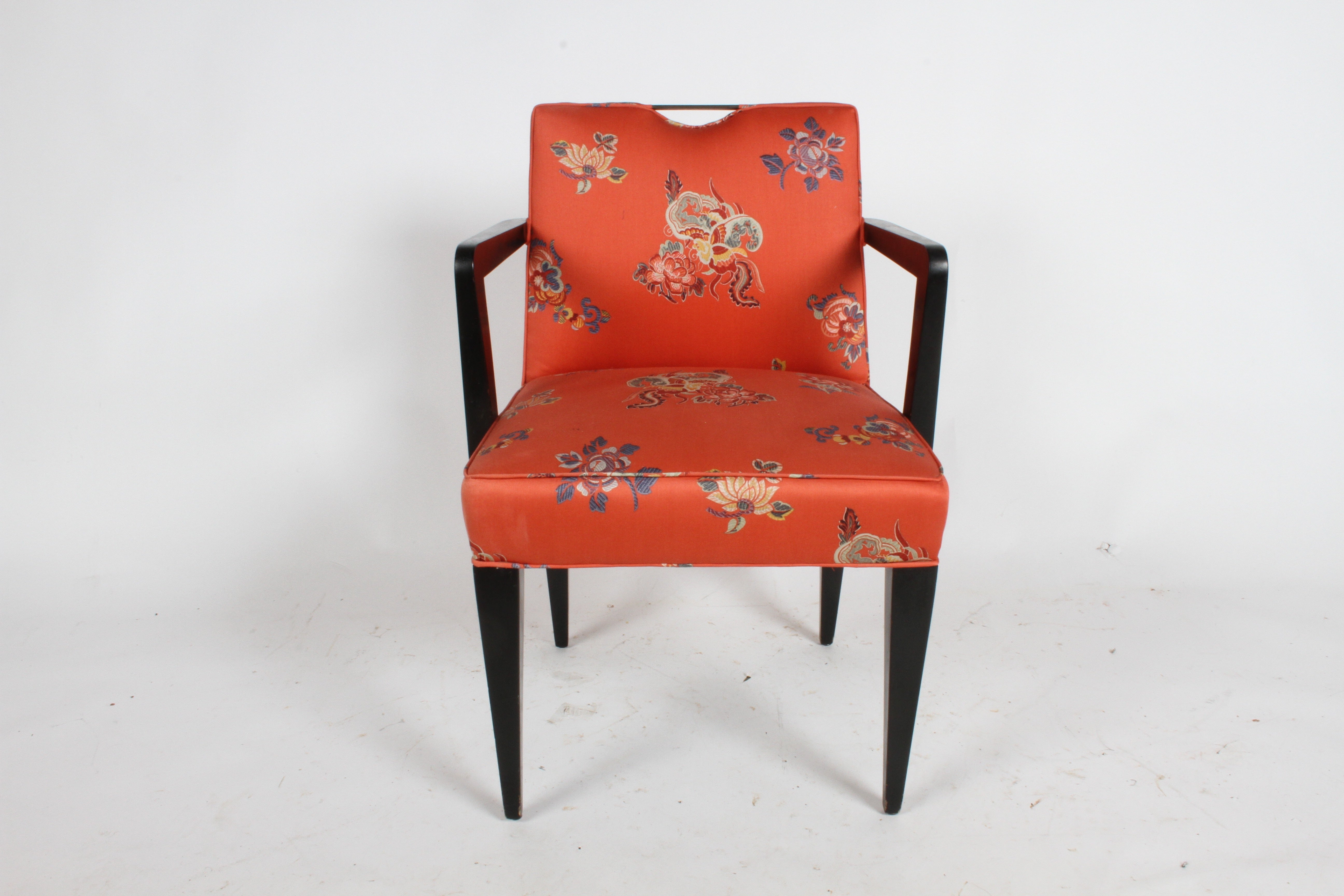 chair design with handle dining pad covers edward j wormley for dunbar brass armchair at 1stdibs