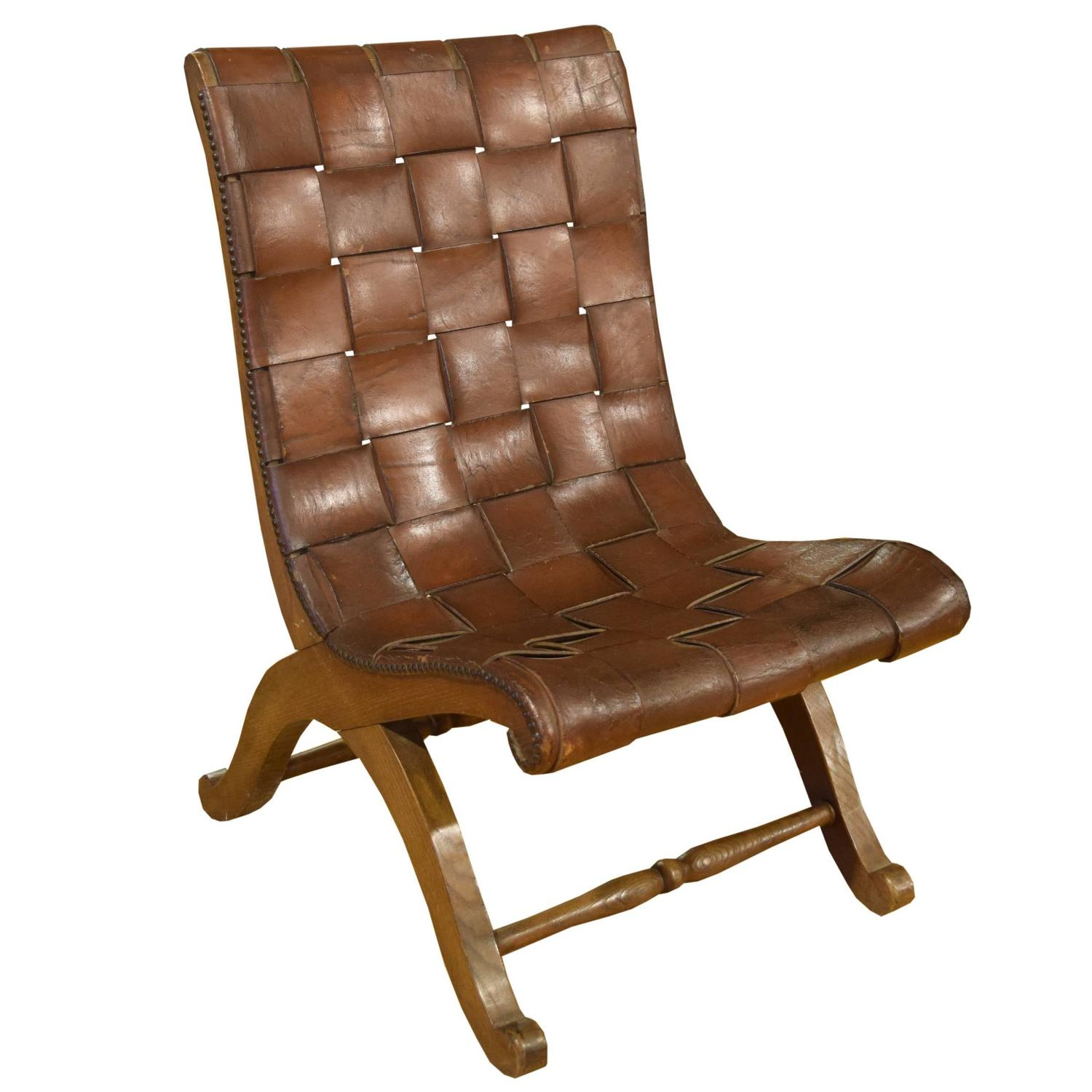 Woven Leather Chair French Woven Leather Chair For Sale At 1stdibs