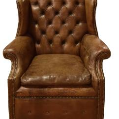 Leather Chairs For Sale Clear Chair Italian Tufted Wing At 1stdibs