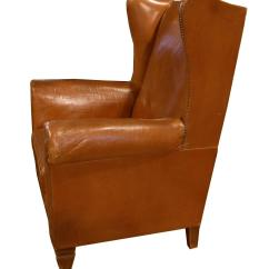 Wingback Chair For Sale Covers Canada Italian Leather At 1stdibs