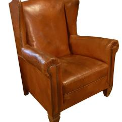 Leather Wingback Chairs Orange Chair Italian For Sale At 1stdibs