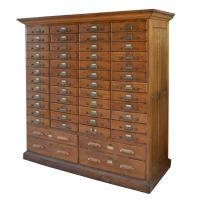 American Oak Multi-Drawer File Cabinet For Sale at 1stdibs