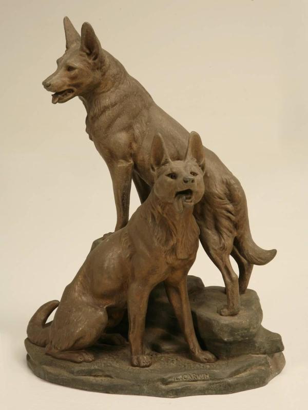 German Shepherd Sculpture