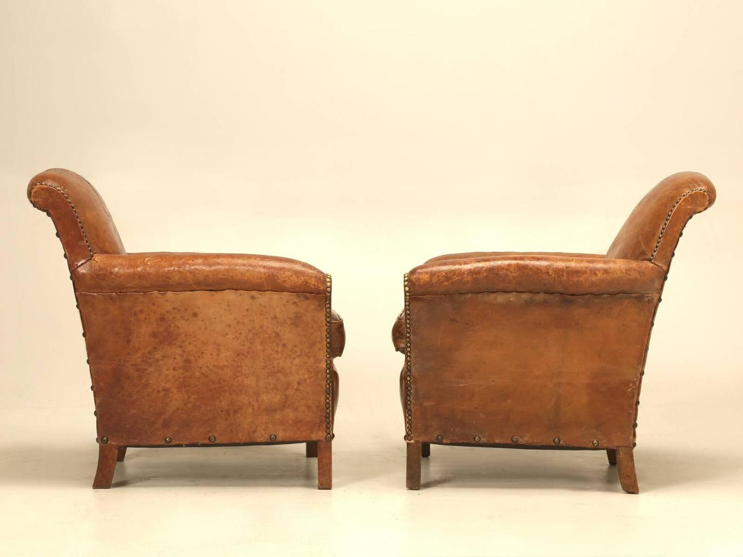 art deco club chairs leather swing chair patio furniture french restored for sale at