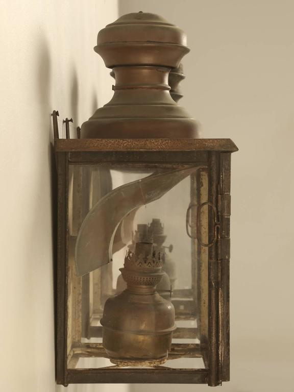 Antique French Gillet and Forest Kerosene Lanterns from