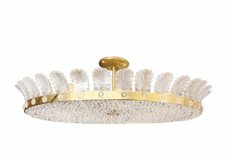 """The Decazes 31"""" Beaded Flush-Mounted Light Fixture For"""