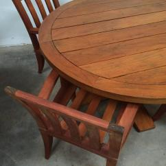 Teak Table And Chairs Garden Cloud Nine Chair Outdoor Dining Set Sturdy At 1stdibs