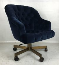Tufted Velvet Executive Swivel Chair by Edward Wormley for ...