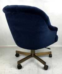 Tufted Velvet Executive Swivel Desk Chair by Edward ...