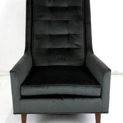 Kohl Lounge Chair Met Voetenbank Dental Saddle Pair Of Sculptural High Back Chairs By Metropolitan