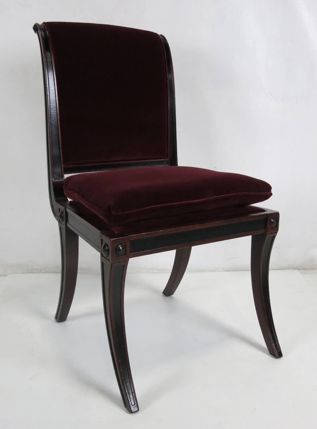 Baker Dining Chairs Set Of Four Regency Style Dining Chairs By Baker Furniture
