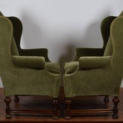 William And Mary Chair Walmart Outdoor Folding Chairs Pair Of Style Carved Wood Upholstered