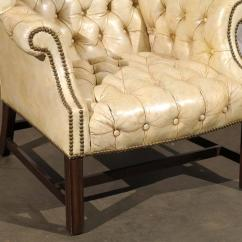 White Leather Chairs For Sale Masoli Cobblestone Swivel Chair 20th Century Tufted Georgian Style Wing