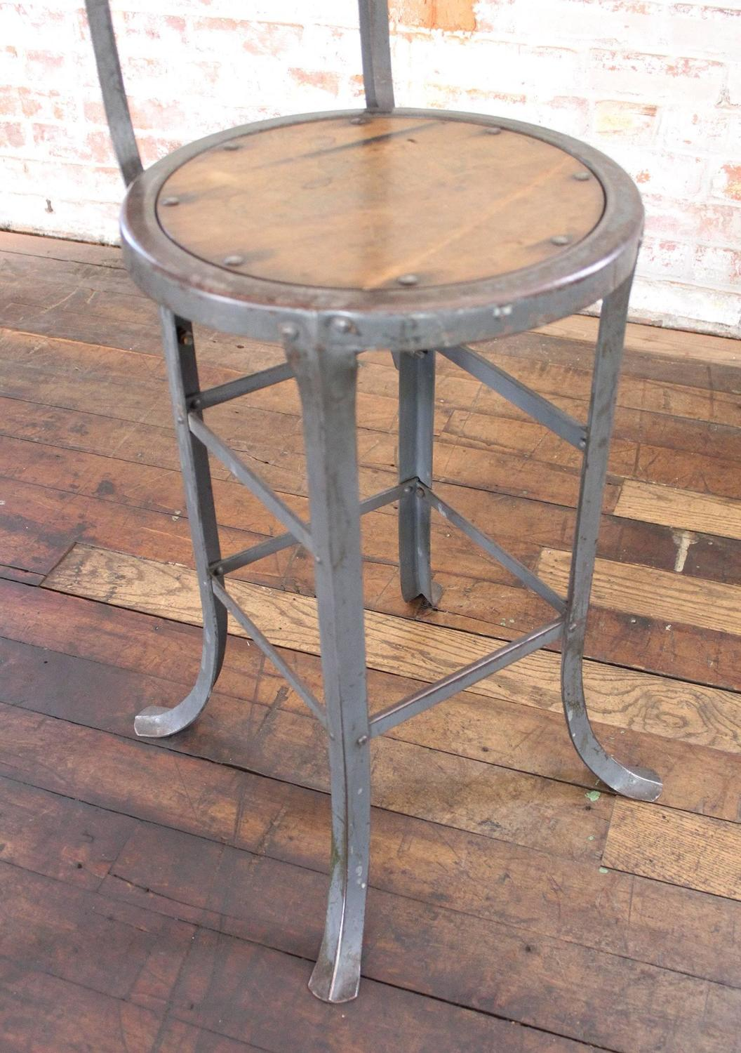rustic metal kitchen chairs yogibo bean bag chair vintage industrial wood and bar
