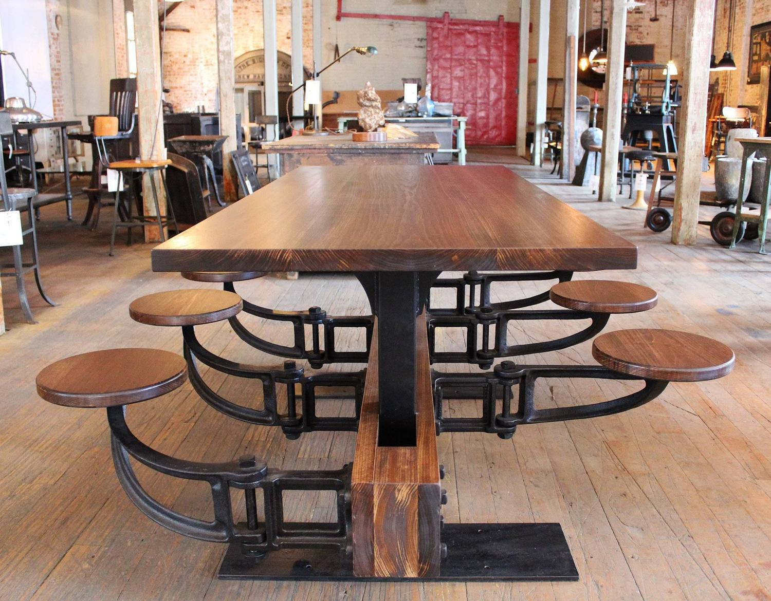 swing chair dining table office chairs for big guys vintage industrial iron cafeteria out seat