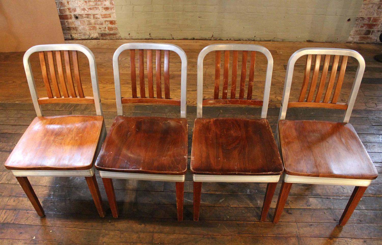 shaw walker chair outdoor slings set of eight vintage wood and metal aluminium side
