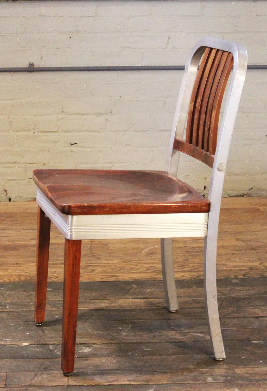 shaw walker chair moon target australia set of eight vintage wood and metal aluminium side