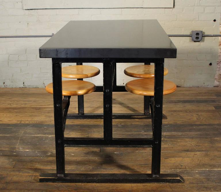 Breakfast Kitchen Dining Table with Swing Out Seats