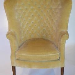 High Back Tufted Chair Dining Covers Amazon Prime Architectural Velvet Wingback For