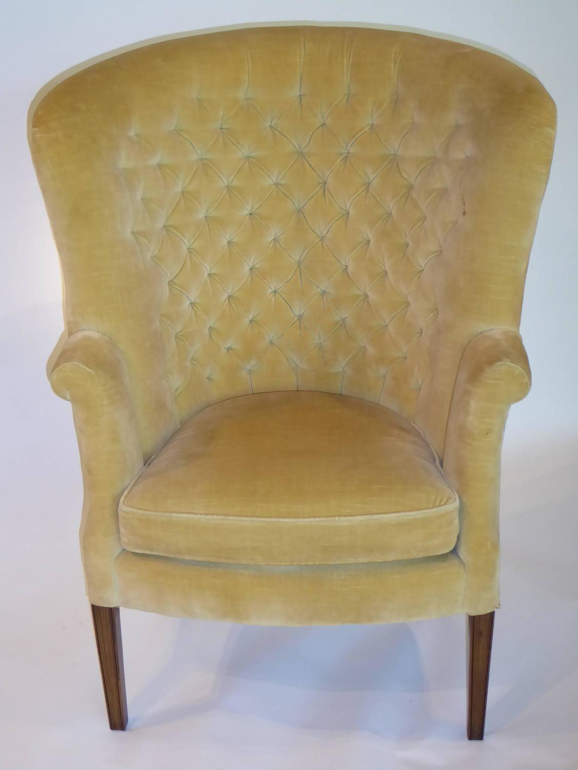 High Back Wing Chair Architectural High Back Tufted Velvet Wingback Chair For