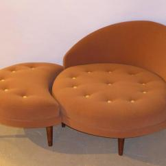 Adrian Pearsall Chair Designs Wood Frame Beach Chairs Superb Round Lounge With Fitted Ottoman At 1stdibs Wonderful Tony Design By For His Firm Craft Associates This Button Tufted