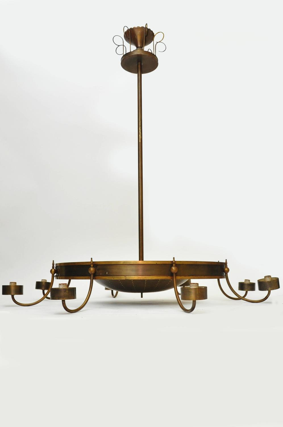 Mid Century Modern Large Scale Commercial Light For Sale