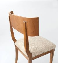 Scandinavian Modern Klismos Dining Chairs in Elm Set of ...