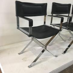 Director Chairs For Sale Gray Chaise Lounge Chair Set Of Four Vintage Alessandro Albrizzi Directors