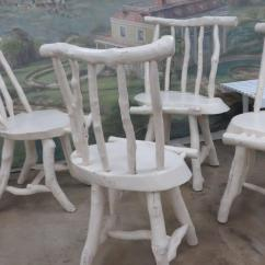 Adirondack Style Dining Chairs Kids Chair And Ottoman Four Rustic At 1stdibs