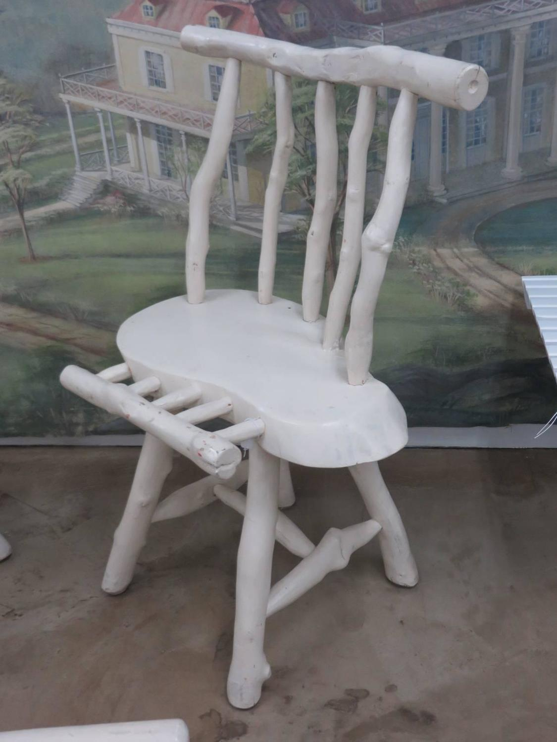 adirondack style dining chairs chair care patio four rustic at 1stdibs