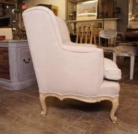 Louis XV Style Wing Armchair For Sale at 1stdibs