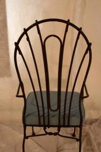 Set of Eight Indoor or Outdoor Wrought Iron Chairs at 1stdibs