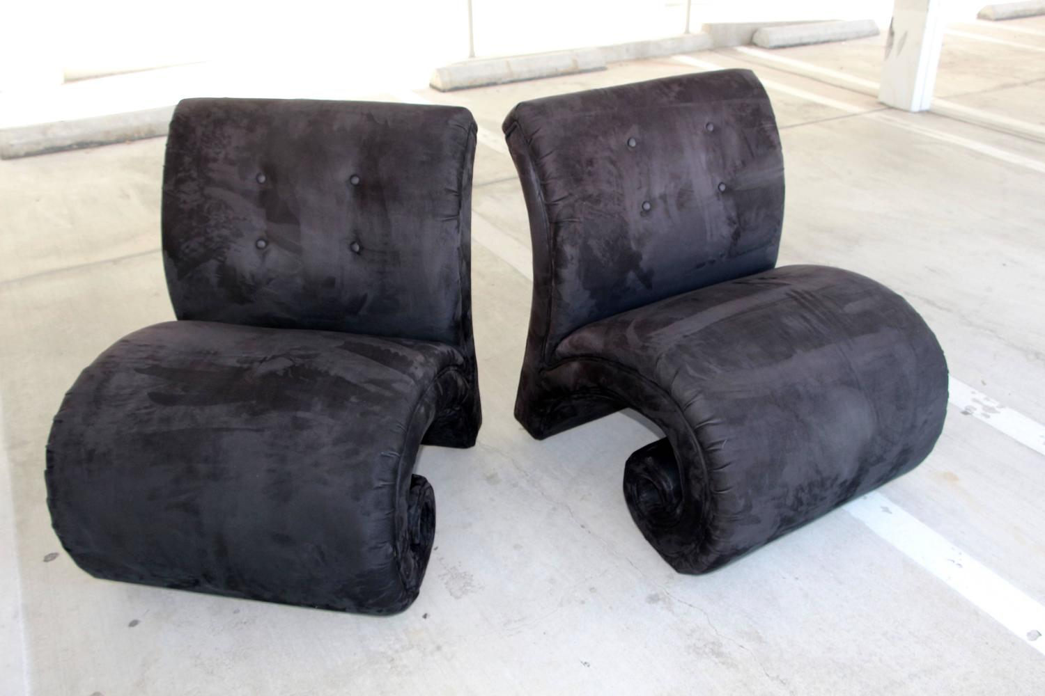unusual chair legs folding with canopy target curled front leg chairs on wood feet at 1stdibs