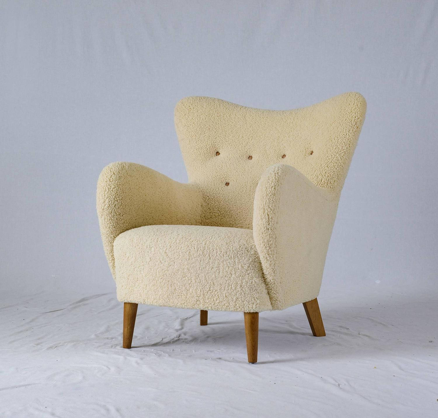 sheepskin chair covers for recliners uk scooter chairs sale scandinavian lounge at 1stdibs