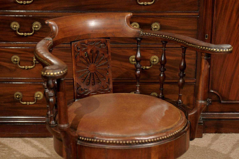 swivel chair in spanish armless lounge uk 19th century walnut armchair at 1stdibs
