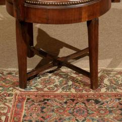 Swivel Chair In Spanish Outdoor Wooden Rocking 19th Century Walnut Armchair At 1stdibs