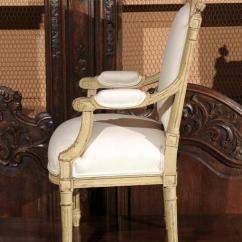 Thonet Chair Styles Round Swivel For Sale French 1920s Painted And Carved Wood Child's With Muslin Upholstery At 1stdibs