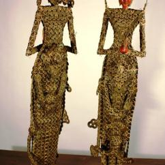 Wooden Hand Chair Bali Cover Hire Terms And Conditions Pair Of Early 20th Century Balinese Coin Dolls At 1stdibs