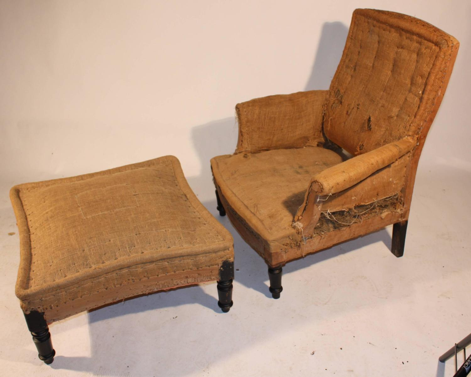 chairs and ottomans upholstered back pack chair napoleon iii club matching ottoman