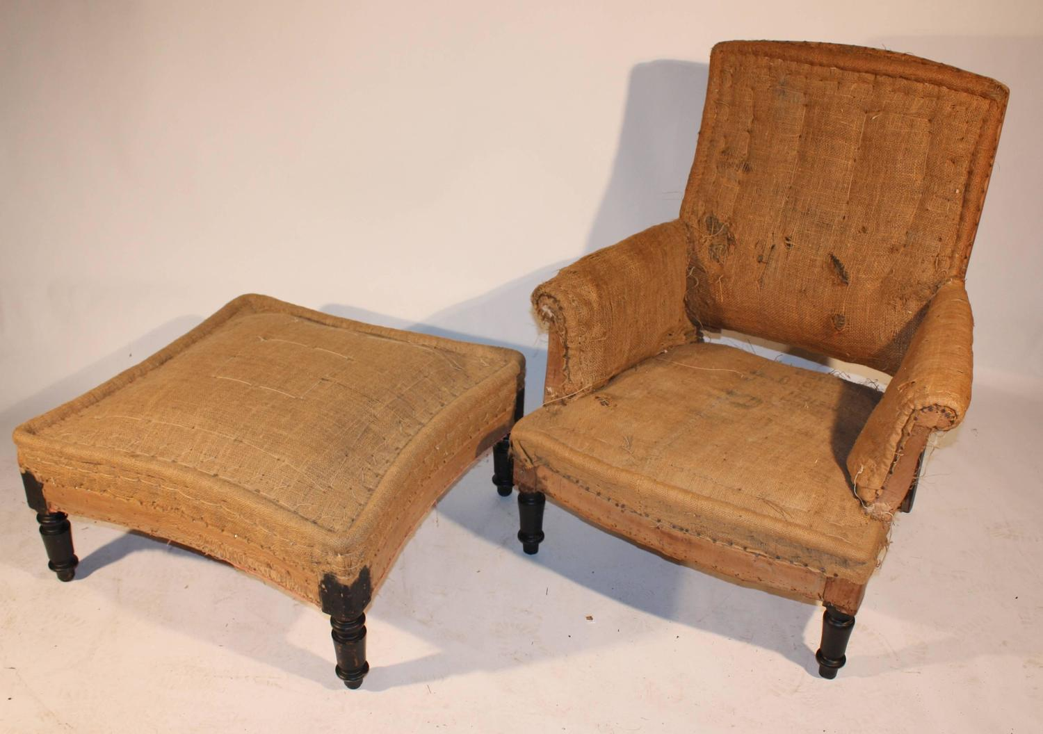 chairs and ottomans upholstered stand chair for baby napoleon iii club matching ottoman