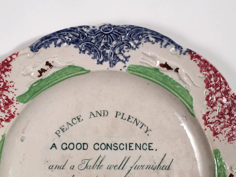 Timeless Peace And Plenty Staffordshire Plate At 1stdibs