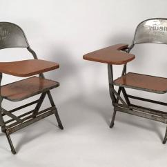 Folding Chair With Desk Swivel Bar Chairs Pair Of Music Department Arms For