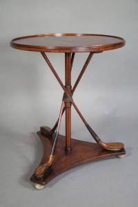 Unusual Maple Golf Club Occasional Table at 1stdibs