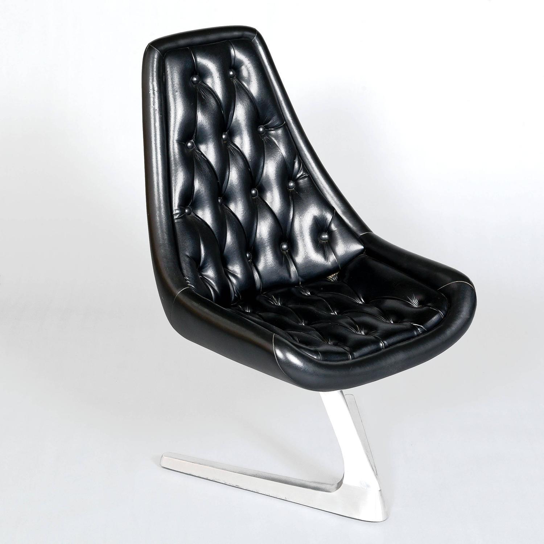 1960s Aluminium Chromcraft Sculpta Chair ReUpholstered