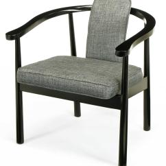 Grey Upholstered Dining Chairs Picnic Time Six Slate Linen And Ebonized Yoke Arm